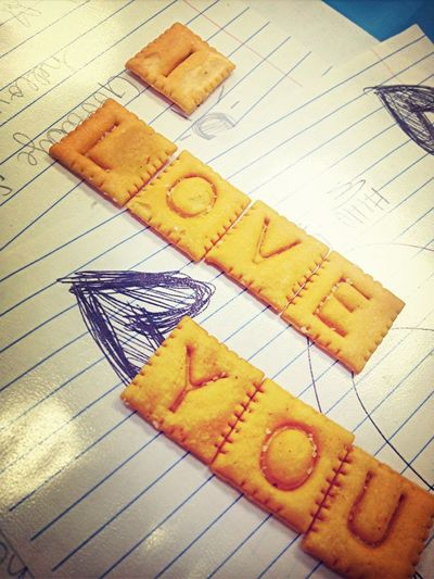 My cute Little letter cheese its (:
