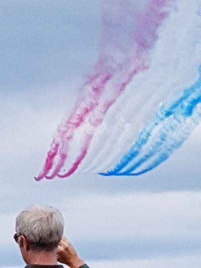 red & blue air