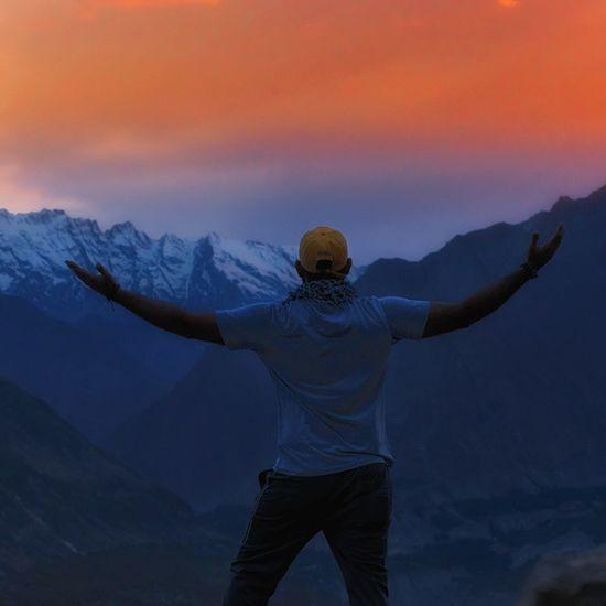 Travelogue Hunza Sunset Enjoy Colors Ghalibhasnain Eaglenest