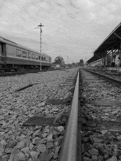 Cloud - Sky Sky No People Outdoors Connection Day Railroad Railroad Station Platform Railway Track Railroad Station Railway Station