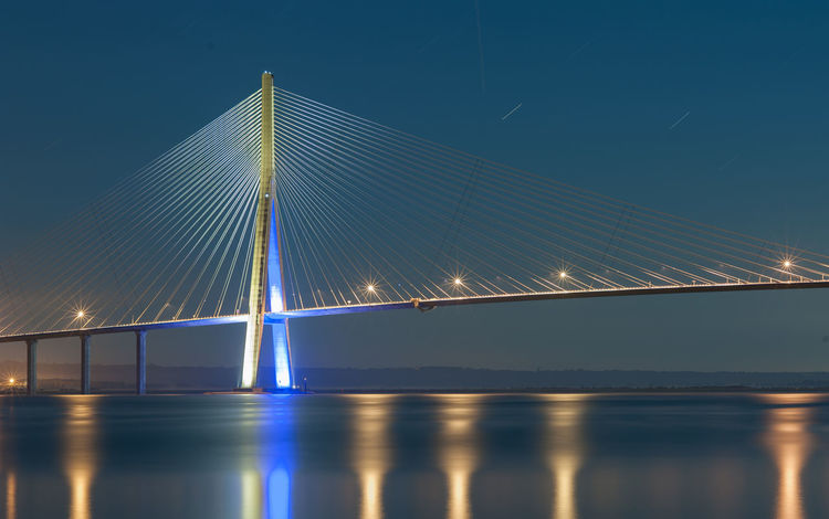 Normandy's bridge at midnight. Nikon D700 with tripod. (105mm - F/11 - 155s - iso 200) Sky_collection The Purist (no Edit, No Filter) Skyporn EyeEm Best Shots - Landscape EyeEm Best Shots - Long Exposure EyeEm Best Shots Eye4photography  Nikon The Week On EyeEm