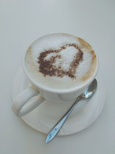 Froth Art Cappuccino Frothy Drink Drink Coffee Break Saucer Coffee - Drink Teaspoon Coffee Non-alcoholic Beverage Hot Drink