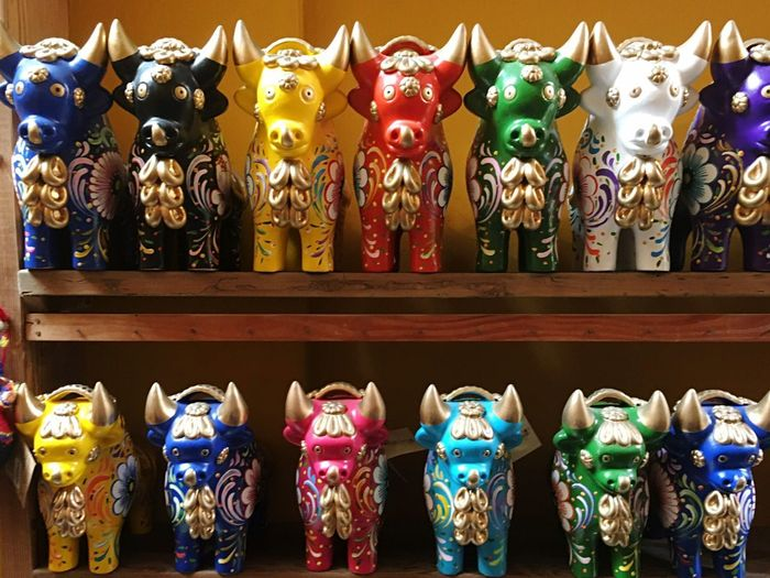 Statue Human Representation Shelf Large Group Of Objects In A Row Religion No People Sculpture Travel Destinations Spirituality Day Indoors  Close-up Bull Peruvian Peruvian Bulls