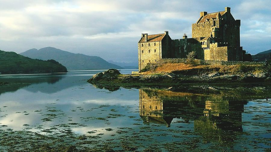 Reflection Lake Cloud - Sky Outdoors Water Castle Ross-shire Eilean Donan Castle HuaweiP9Photography Huaweiphotography Huawei P9 Leica HuaweiP9