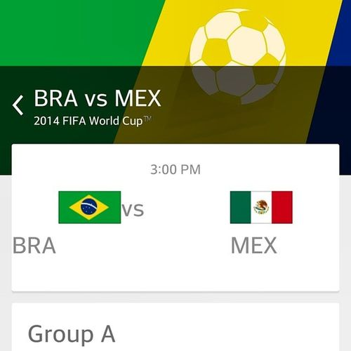 That Brazil Vs Mexico Match Is Gonna Be The Truth Yo!!! = at 3pm on ESPN. 2014fifaworldcup Letsgobrazil TerrificTuesdayFLOW