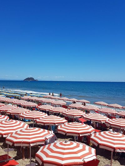 Beach Sea Water Outdoors Horizon Over Water Tranquility No People Day Sand Chair Sky Summer Clear Sky Blue Nature Liguria, Italy Alassio Liguria
