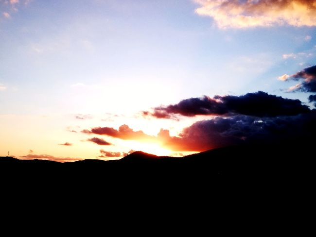 Sunset Landscape Dramatic Sky Silhouette Mountain Nature Cloud - Sky Sky Scenics Tree Outdoors No People Beauty In Nature Natural Parkland Tree Area Photography Themes Day Astronomy September Beauty In Nature The Week On EyeEm