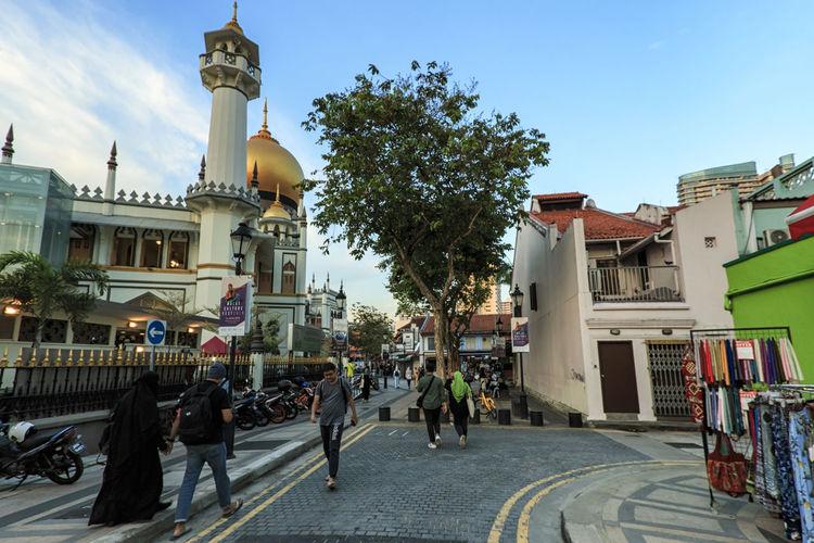 Singapore Marina Bay Sands Merlion Haji Lane, Singapore Arab Street Cityscape Modern Art Museum Buddah Tooth Relic Temple Kampong Glam