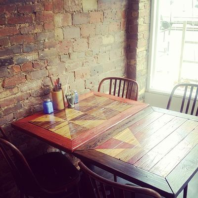 Next round of table deliveries at @parkvine ! Rustic tables to order using reclaimed wood - want one? The stain treatments are custom to your specs. Hingestore Homedecor Rustic Customwork reclaimedwood table