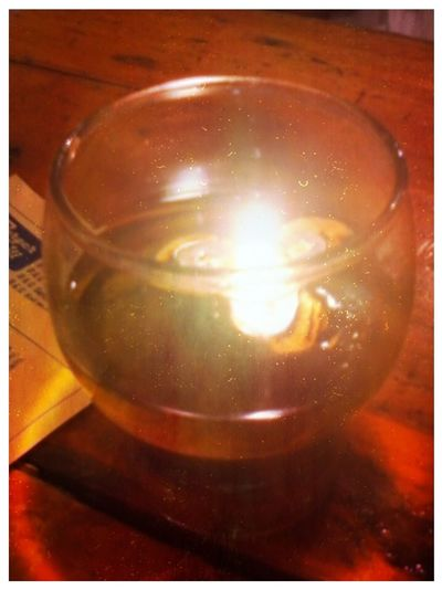 candle in a glass Candle In A Glass