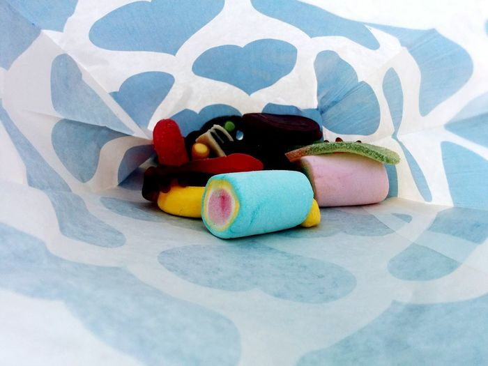 Close-up of colorful objects