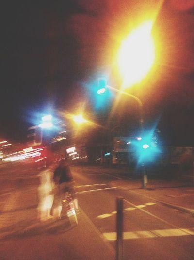 Stop Lights At Night