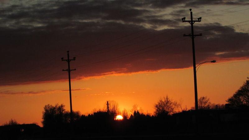 Cool Sunset Bright Orange Electric LinesSpringtime Enjoying Life Skylovers Cadillac Michigan