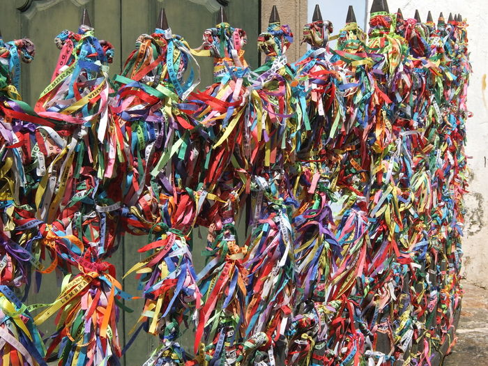 Trip in Salvador da Bahia, Brazil Brazil Day Large Group Of Objects Multi Colored No People Outdoors Ribbon Salvador De Bahia Senhor Do Bomfim Street Tourism Variation Wrist Ribbons