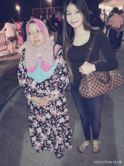 funfair with my family n aunty Anakamat Lepakking
