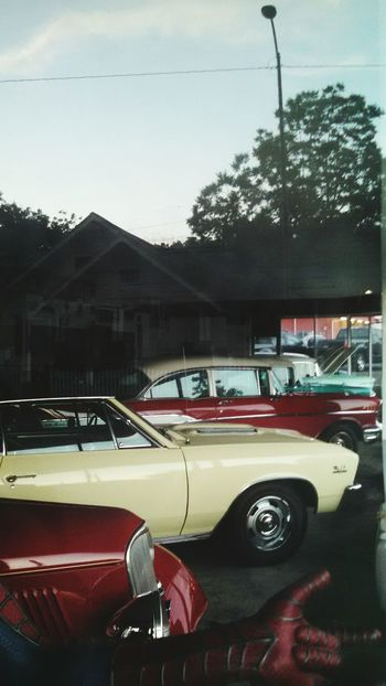 Car Transportation Land Vehicle No People Sport Day Outdoors City Tree Rich Colors Vintage Cars Business Finance And Industry Spiderman Redhead BYOPaper! Transportation Window Rural Scene Reflection_collection Tranquility