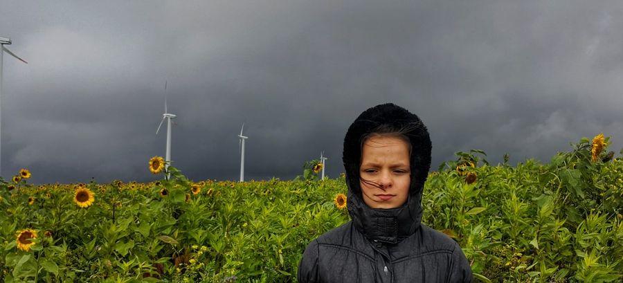 bad weather Schlechtes Wetter Kein Spass Weather Child One Person Children Only Headshot Teenager Outdoors