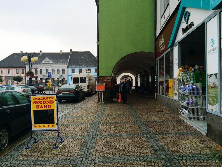 Travelling Czech Republic Česká Třebová Square Arcades East