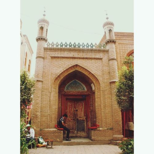 The most beautiful moment for him Mosque Kashgar First Eyeem Photo