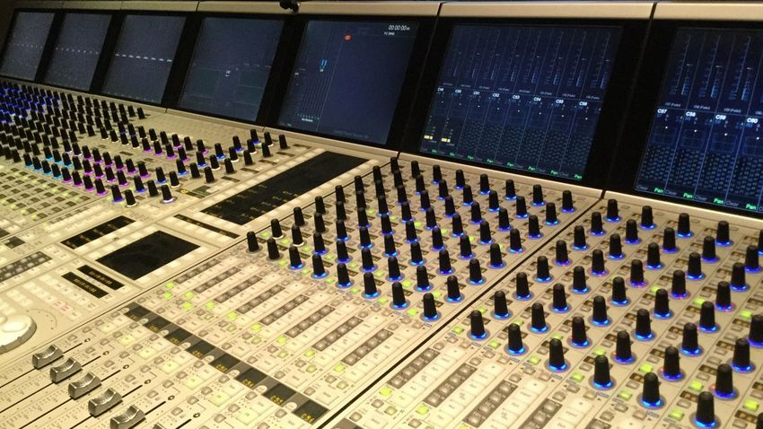 Mixing Console for Radio Broadcast Nofilternoedit 16Snow No People Broadcasting Studio Recording Studio Equipment Mixing Console Architecture High Angle View Built Structure Indoors  Arts Culture And Entertainment
