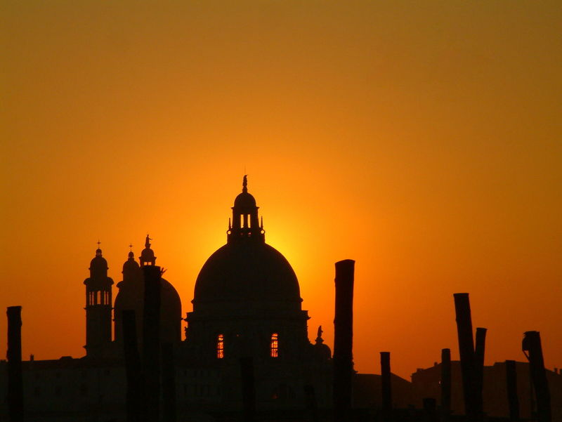 Basilica di Santa Maria della Salute, Venice, Italy Architecture Basilica Basilica Di Santa Maria Della Salute Building Exterior Built Structure Christian Cross Church City Day Dome Domed Basilica Grand Canal No Clouds No People Orange Color Orange Sky Outdoors Red Sky At Sunset Silhouette Sky Stakes Sun Behind Building Sun Light Through Window Sunset Venice EyeEmNewHere Neighborhood Map