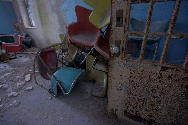 Empty Chairs Chairswithstories Chairsonchairs Urbexphotography Filthyfamily