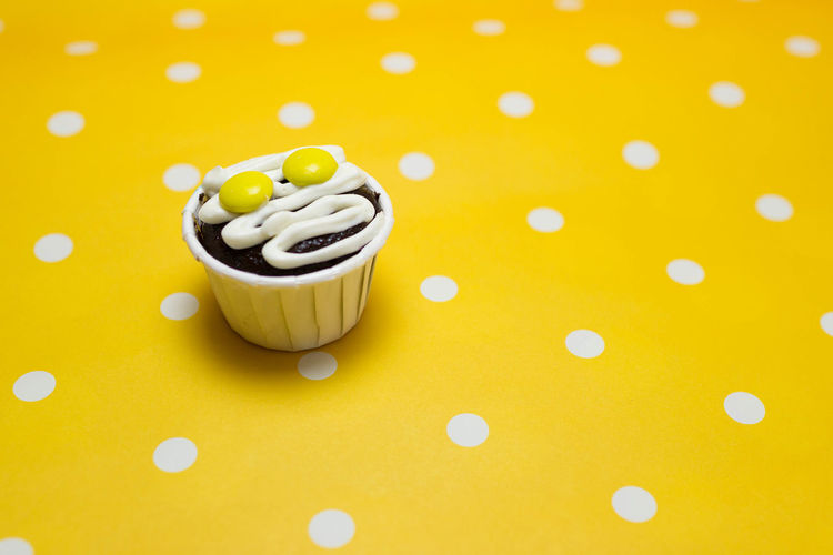 Cupcakes Cupcakes Close-up Food Food And Drink High Angle View Indoors  Still Life Sweet Sweet Food Temptation Yellow