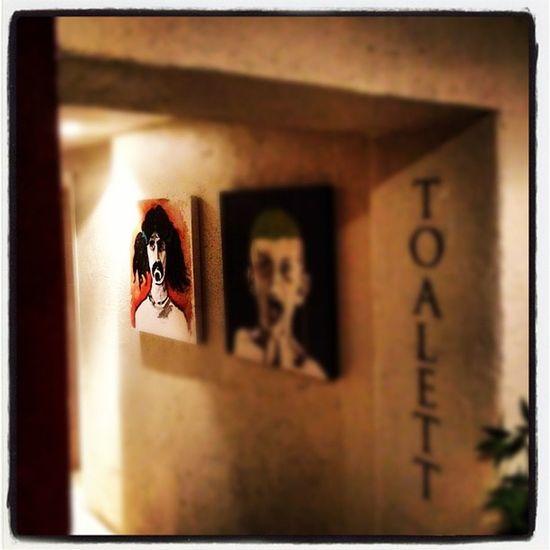 Frank #Zappa in a pizza place toilet in #oslo. Oslo Zappa