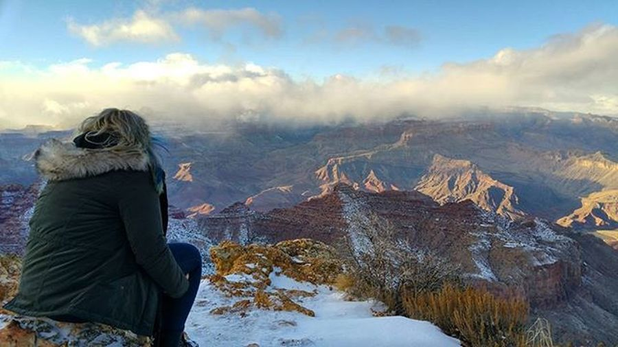Two months ago on this day I was looking over the vast beauty that is the Grand Canyon Grandcanyon Scenic View Overseas Contiki Southernadventure 2015  Besttrip  Nofilter Wonderoftheworld USA Travel Wanderlust Seethesites Seetheworld  TBT  Throwback Throwbackthursday