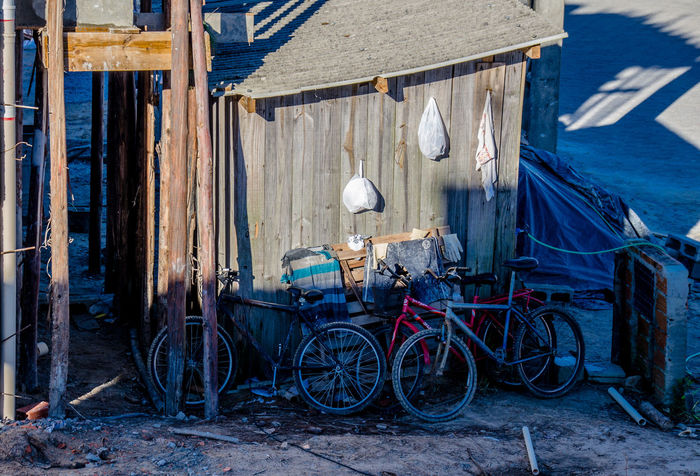 Architecture Bicycle Building Exterior Built Structure Day Favela No People Outdoors Poor