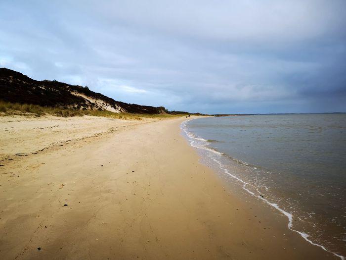Nordsee Sylt Germany Deutschland Nordsee Schleswig-Holstein Sand Dune Water Low Tide Wave Sea Beach Sand Summer Marram Grass Horizon Seascape Coastal Feature Coast Calm