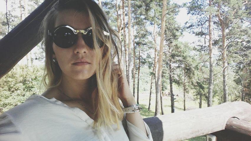 Selfie Girl Glasses Round Glasses Blonde Glasses👌