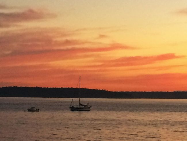 Sunset on July 11, 2014 in Seattle.