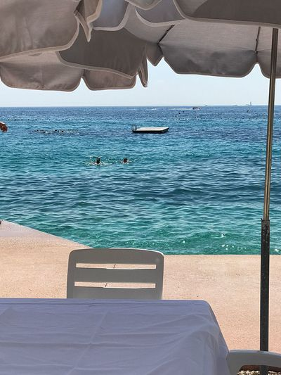 A clear day All Shades Of Blue Blue Turquoise Sea Summertime Summer Beauty In Nature Sea Beach Bolonie Art Bolonie Style Bolonie Breathing Space