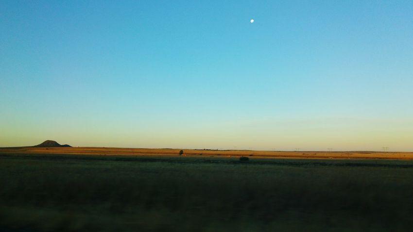 Freestate South Africa South Africa Roadtrip Roadside Moonrise Moon Moon Rising Farmland Farm Wintertime Nature