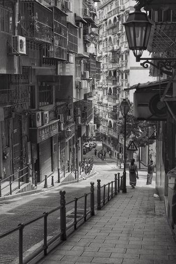 Architecture Built Structure Building Exterior Outdoors City Real People Hong Kong Tim Wong Black And White Landscape