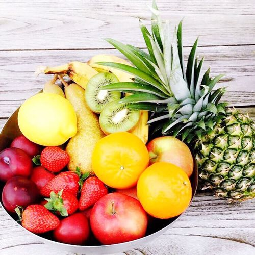 Fruit Healthy Eating Food Pineapple Freshness Banana Food And Drink No People Pear Kiwi - Fruit Indoors  Close-up Day