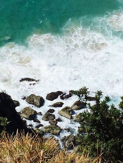 Waves Crashing On Rocks Waves And Rocks Waves Crashing Waves, Ocean, Nature Waves Ocean Peaceful Byron Bay Lighthouse Byron Bay Water Sea Motion Rock Beauty In Nature Wave Solid Rock - Object Nature Beach High Angle View Power In Nature Breaking Outdoors No People