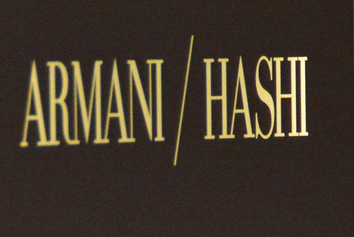 Armani Hashi Black Background Burj Khalifa Close-up Communication Day Designers  Indoors  No People Text