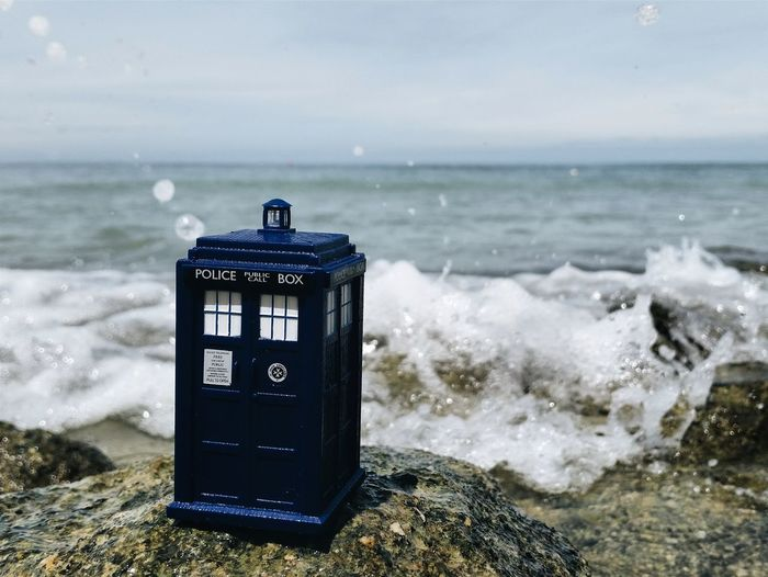 Sea Surf Wave Horizon Over Water Water Toys Outdoors Creativity TARDIS Blue Tardisoftheday