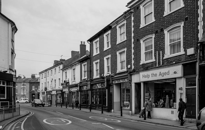 C19 shops, Church Street, Rugby, Warwickshire Architecture Monochrome Black And White Rugbytown Rugby Warwickshire Shops FUJIFILM X-T10 Shops Street