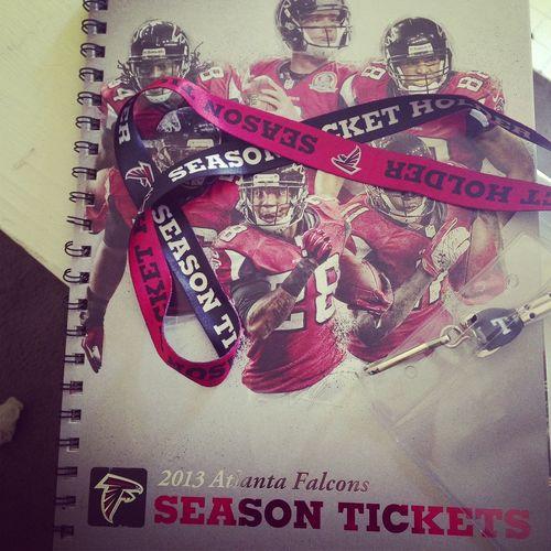 TurnUp !!! Atlanta Falcons  SEASON TICKETS ARRIVED Turndownfahwheeet
