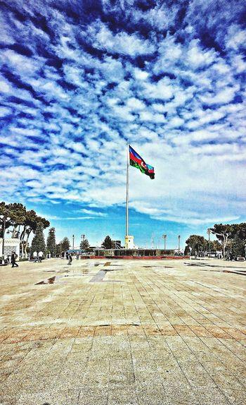 Baku Flag Perfect Popular Photos