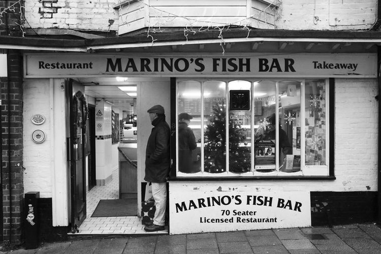 Rye, England - December 2018 My Best Photo RYE Building Exterior Fish And Chips Streetphotography England People Candid Men Adult Streetwise Photography The Photojournalist - 2019 EyeEm Awards
