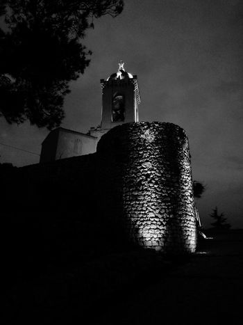 Church in Black And White. Castle Marseilles Architecture_bw
