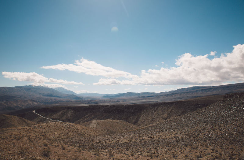 Arid Climate Arid Landscape Beauty In Nature Blue Sky Cloud - Sky Day Death Valley Death Valley National Park Desert Landscape Mountain Mountain Range Mountains Nature Nature No People Outdoors Physical Geography Roadtrip Scenics Sky Tranquil Scene Tranquility