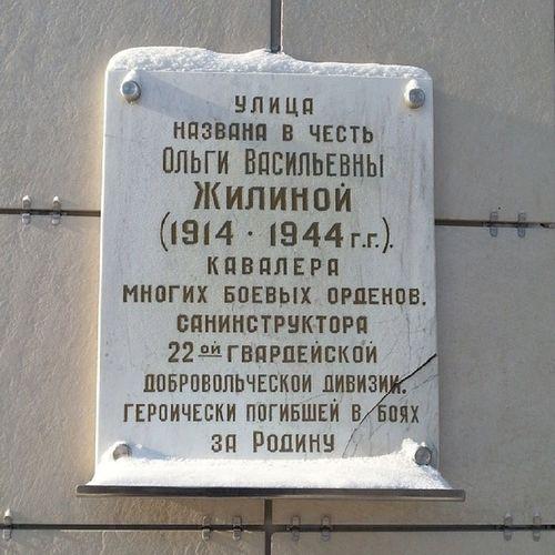 2014 -02, Новосибирск . Памятная табличка , улица_Ольги_Жилиной. Вечная_память павшим! Герой, Великая_Отечественная_Война.