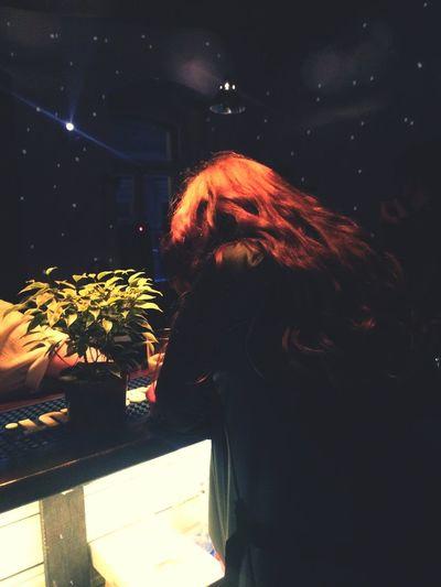 Dyed Hair Young Women Redhead Women Standing Sky