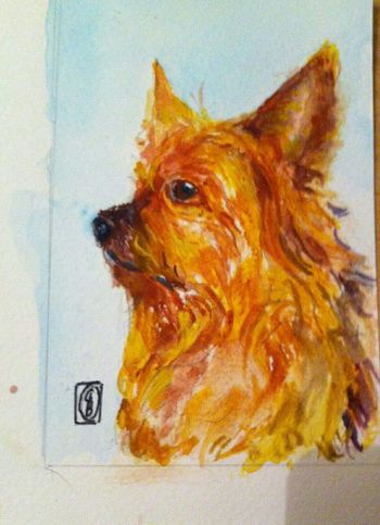 Valentine today Water Colours Portrait The Purist ( No Edit, No Filter ) I Love My Dog