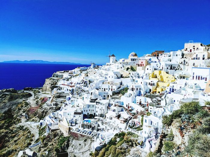 A view from Santorini, Greece Travel Destinations Santorini, Greece Travel Photography Google Pixel 2 XL Sea Clear Sky Blue Water Sky Horizon Over Water Close-up Coast